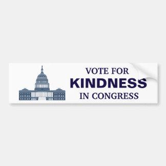 Pegatina Para Coche Voto para la amabilidad en congreso