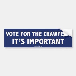 Pegatina Para Coche Voto para los cangrejos: ¡Es importante! Stic de