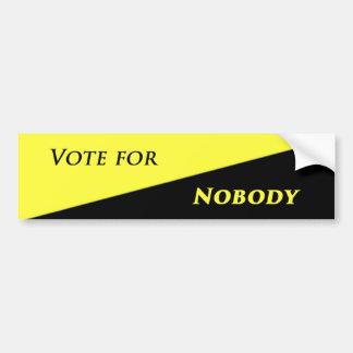 Pegatina Para Coche Voto para nadie 2