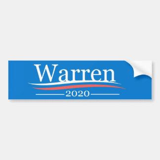 Pegatina Para Coche Warren para el presidente, 2020, azul clásico de