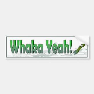 Pegatina Para Coche Whaka sí. el decir divertido del kiwi (Nueva