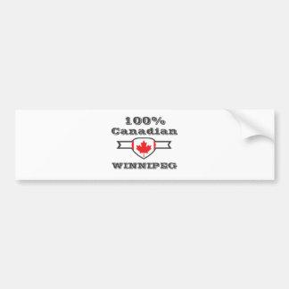 Pegatina Para Coche Winnipeg 100%