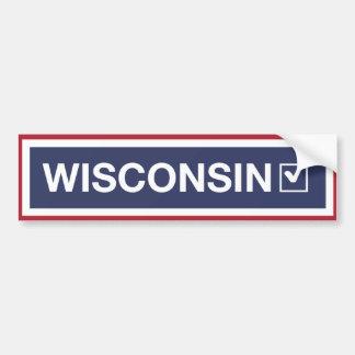 Pegatina Para Coche Wisconsin movió de un tirón el √ azul