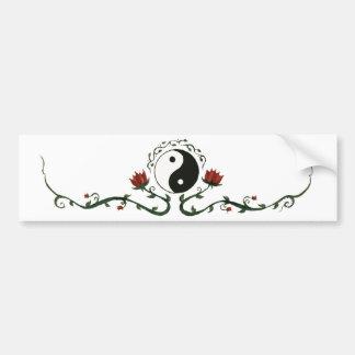 Pegatina Para Coche Yin Yang en naturaleza
