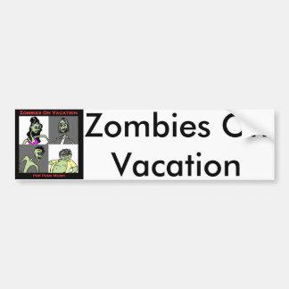 Pegatina Para Coche Zombis el vacaciones - cuatro caras