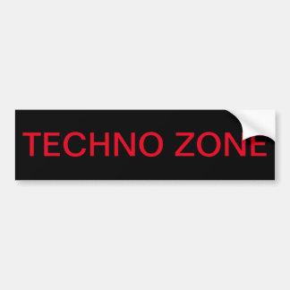 Pegatina Para Coche Zona de Techno, zona peligrosa del techno