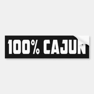 Pegatina para el parachoques 100% de Cajun