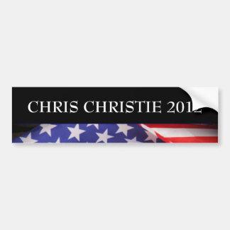 Pegatina para el parachoques 2012 de CHRISTIE de C Etiqueta De Parachoque