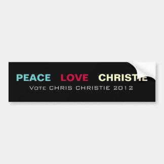 Pegatina para el parachoques 2012 de CHRISTIE del  Pegatina Para Coche