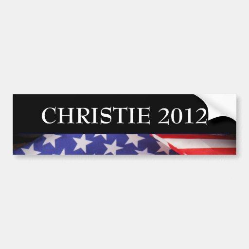 Pegatina para el parachoques 2012 de CHRISTIE Etiqueta De Parachoque