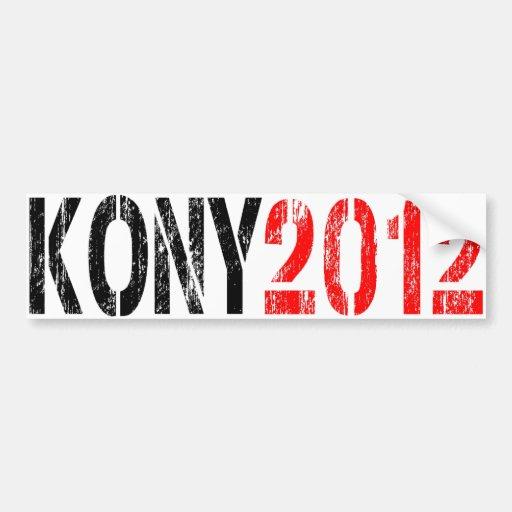 PEGATINA PARA EL PARACHOQUES 2012 DE KONY ETIQUETA DE PARACHOQUE