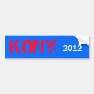 Pegatina para el parachoques 2012 de Kony Pegatina De Parachoque