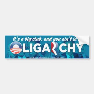 Pegatina para el parachoques 2012 de la oligarquía pegatina para coche