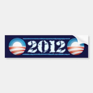 Pegatina para el parachoques 2012 de Obama Pegatina De Parachoque