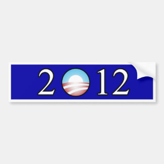 Pegatina para el parachoques 2012 de Obama Pegatina Para Coche