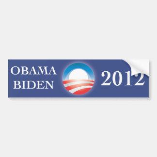 Pegatina para el parachoques 2012 de Obama y de Bi Pegatina Para Coche