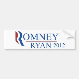 Pegatina para el parachoques 2012 de Romney Ryan Pegatina Para Coche