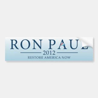 Pegatina para el parachoques 2012 de Ron Paul Pegatina Para Coche