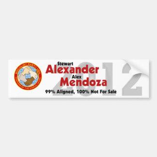 Pegatina para el parachoques 2012 de Stewart Alexa Pegatina Para Coche