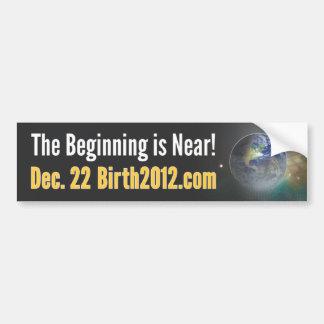 Pegatina para el parachoques 2012 del nacimiento pegatina para coche