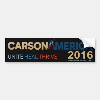 Pegatina para el parachoques 2016 de Ben Carson