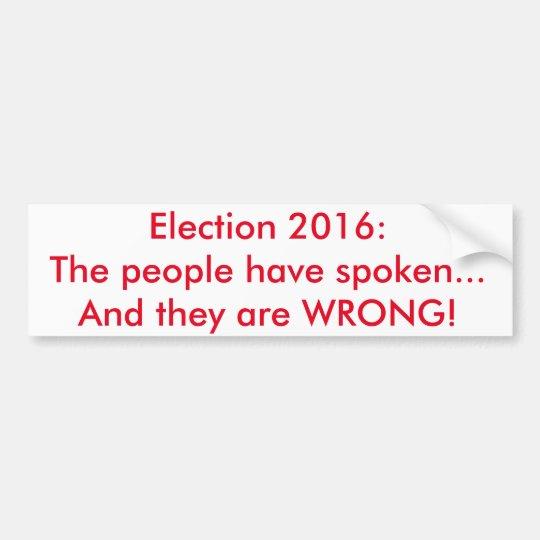 Pegatina para el parachoques 2016 de la elección