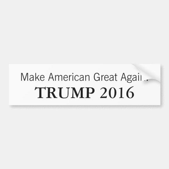 Pegatina para el parachoques 2016 del presidente pegatina para coche