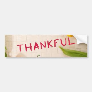 Pegatina para el parachoques agradecida
