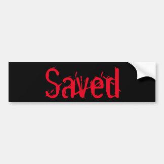 Pegatina para el parachoques ahorrada