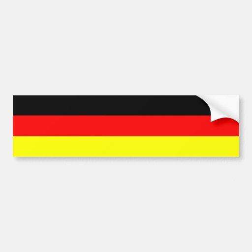 Pegatina para el parachoques alemana de la bandera pegatina de parachoque