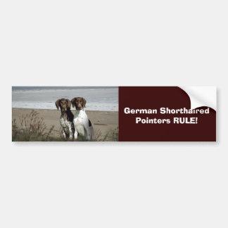 Pegatina para el parachoques alemana del indicador pegatina para coche