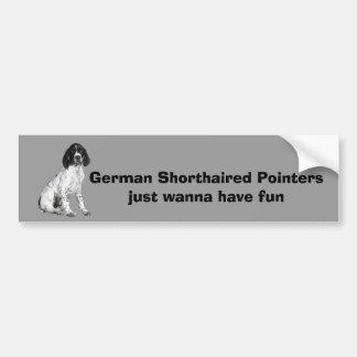 Pegatina para el parachoques alemana del perrito d pegatina para coche