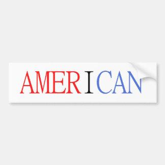 Pegatina para el parachoques americana