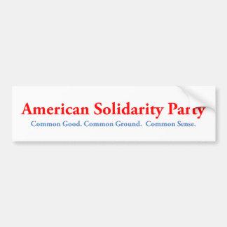 Pegatina para el parachoques americana del fiesta