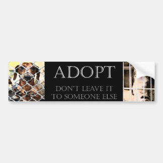 Pegatina para el parachoques animal de la adopción pegatina para coche