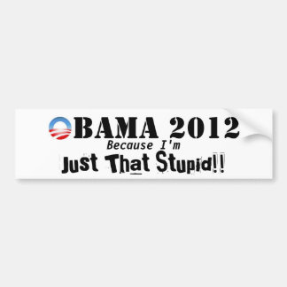Pegatina para el parachoques anti 2012 de Obama Pegatina Para Coche