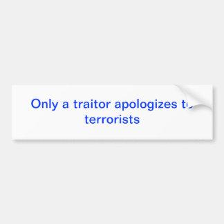 Pegatina para el parachoques anti política de Obam Etiqueta De Parachoque