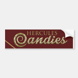 Pegatina para el parachoques básica del caramelo