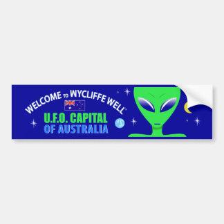 Pegatina para el parachoques bien del UFO de Wycli Pegatina Para Coche