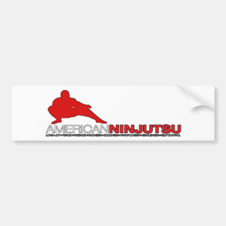 Pegatina para el parachoques blanca de Ninjutsu de Pegatina De Parachoque