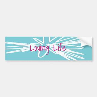 Pegatina para el parachoques cariñosa de la vida