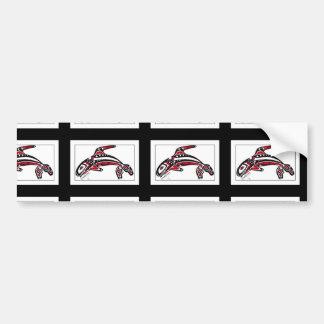 Pegatina para el parachoques con diseño de la orca pegatina para coche