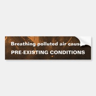 Pegatina para el parachoques contaminada del aire