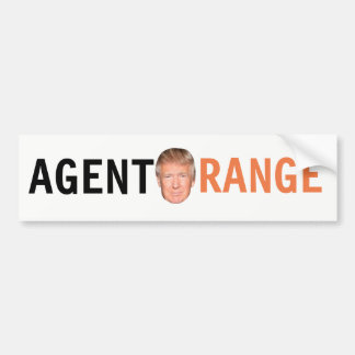 Pegatina para el parachoques de Agent Orange