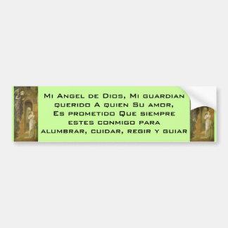 Pegatina para el parachoques de Angel de Dios Pegatina Para Coche