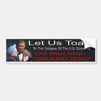 Pegatina para el parachoques de Anti-Obama Pegatina Para Coche
