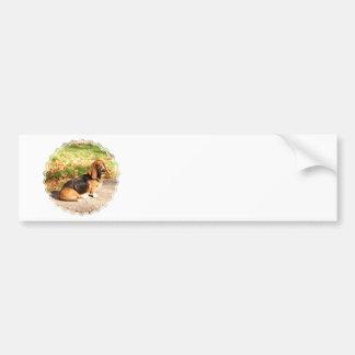 Pegatina para el parachoques de Basset Hound que s Pegatina Para Coche