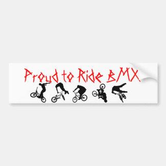 Pegatina para el parachoques de BMX orgullosa mont Pegatina Para Coche