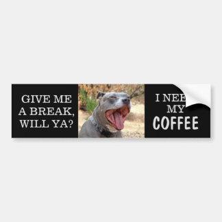 Pegatina para el parachoques de bostezo del café
