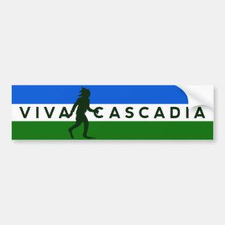 Pegatina para el parachoques de Cascadia Sasquatch Pegatina Para Coche
